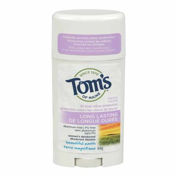 Tom's of Maine Long Lasting Deodorant Stick - Beautiful Earth - 64g