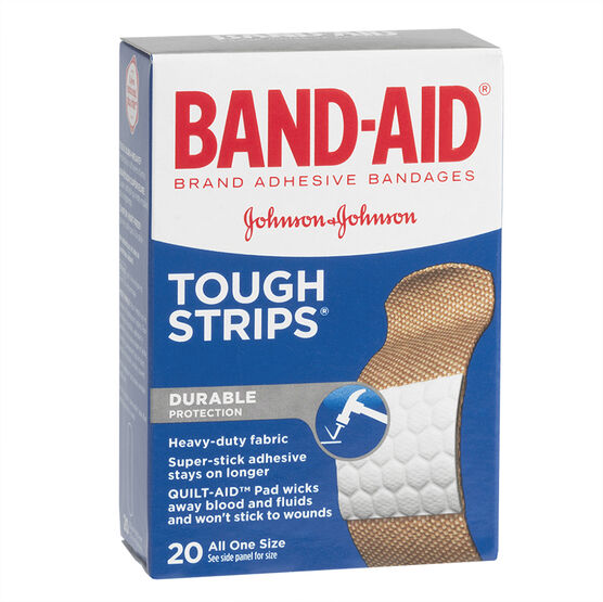 Johnson & Johnson Band-Aid Tough-Strips - 20's