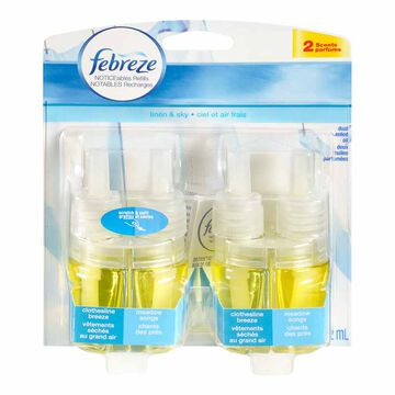 Febreze NOTICEables Dual Scented Oil Refill - Clothesline & Meadow Song - 2 refills - 52ml