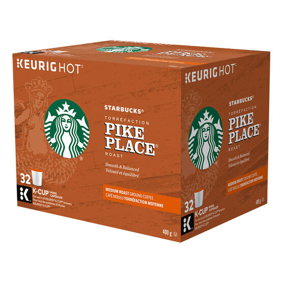 K-Cup Starbucks Coffee - Pike Place - 32 Servings