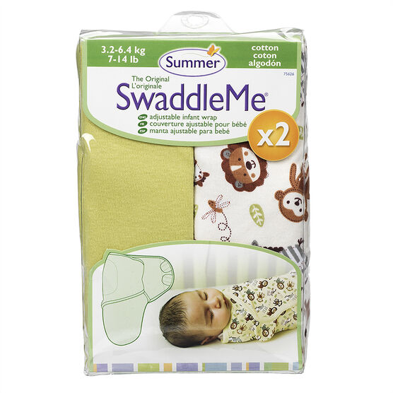 Summer Infant SwaddleMe Cloth - 2 pack - 7-14 lbs