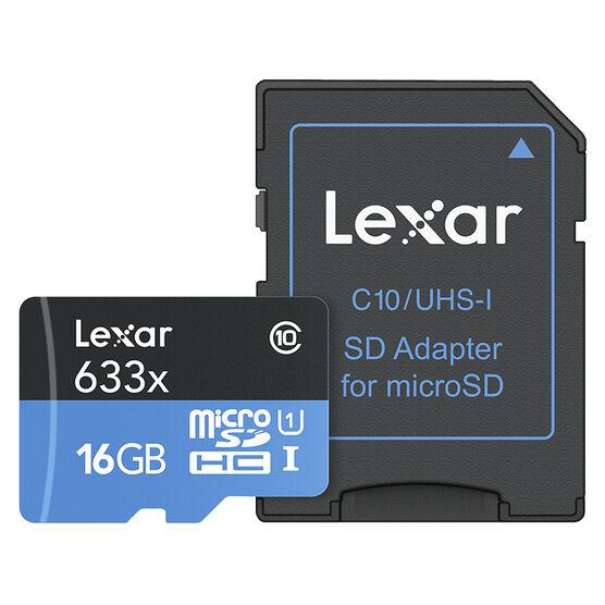 Lexar 633X microSDXC Card - 16 GB - LSDMI16GBBNL633A