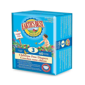 Earth's Best Chlorine Free Disposable Diapers - Stage 3 - 40's