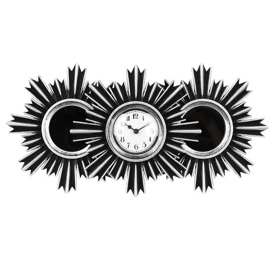 London Drugs Wall Mirror & Clock - Round - 3 piece