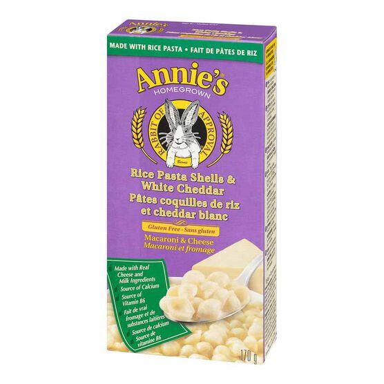 Annie's Rice Shells & Creamy White Cheddar - Gluten Free - 170g