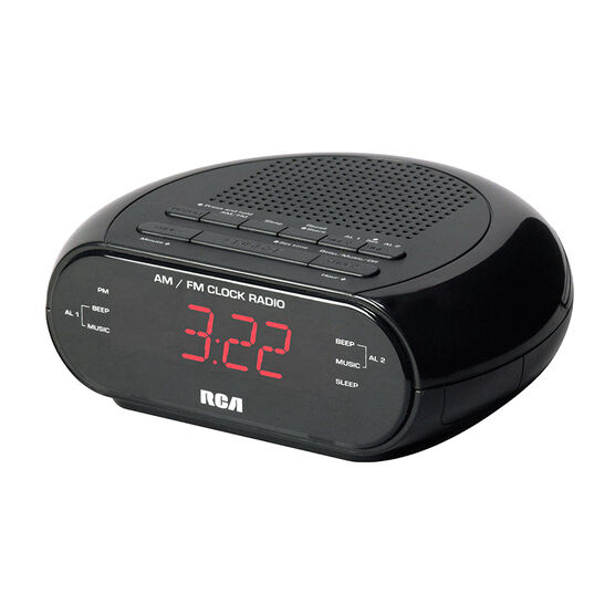 RCA AM/FM Dual Clock Radio - Black - RC205