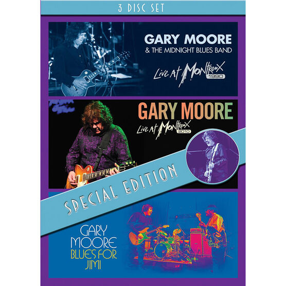 Gary Moore Special Edition Box Set - Blues For Jimi / Montreux '90 / Montreux - DVD