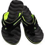 Perry Ellis Massaging Men's Sandals - Black/Lime - Sizes 7-12