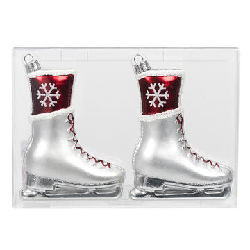 Winter Wishes Candy Cane Lane Skate Ornaments - 2 pack