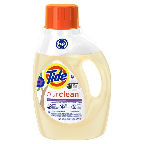 Tide HE PurClean Laundry Detergent - Honey Lavendar - 1.47L/32 Uses