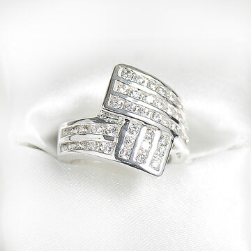 Marca Clear Cubic Zirconia Ring - Size 7