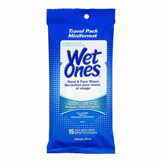 Wet Ones Wipes - Travel Pack - 15's