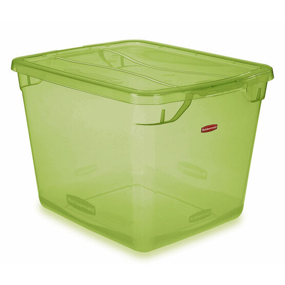 Rubbermaid Cleverstore Tote - Lime Green - 27L