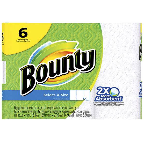 Bounty Towels Select a Size - 6's
