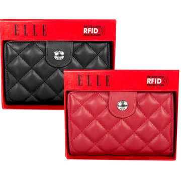 Elle Quilted Wallet Medium - Assorted - 5614