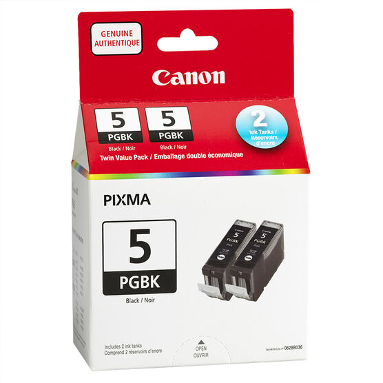 Canon PGI-5BK Twin Value Pack with PR-101 Photo Paper Plus Glossy - 0628B015