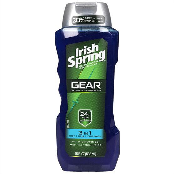 Irish Spring Gear Body Wash - 3in1 - 532ml