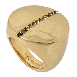 Kenneth Cole Crystal Ring - Gold