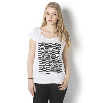 Lava Optiart Printed Tee - White - T-OPTICA