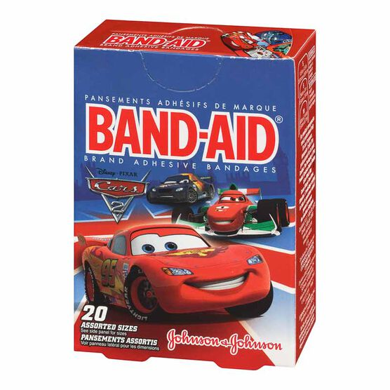 Johnson & Johnson Band-Aid - Disney Cars - 20's - Assorted Sizes