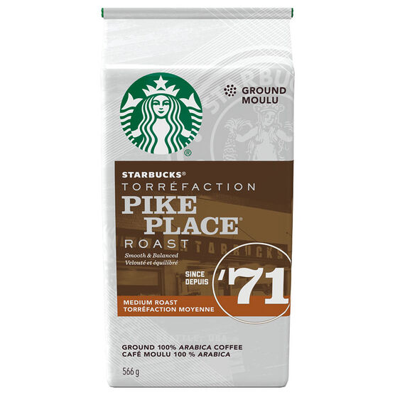 Starbucks Pike Place Roast Ground Coffee - Medium Roast - 566g