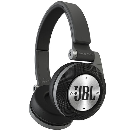 JBL Synchros E40BT On-Ear Headphone - Black - E40BTBLK