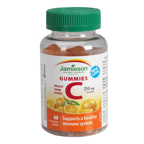Jamieson Vitamin C 250mg Gummies - Tangy Orange - 60's