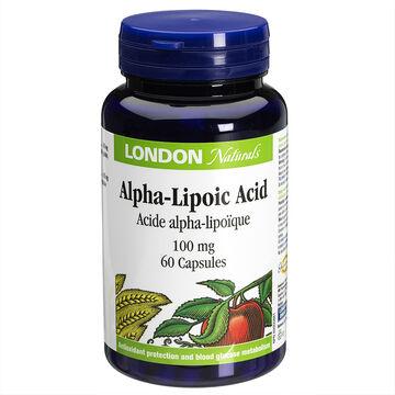 London Naturals Alpha-Lipoic Acid 100mg - 60's
