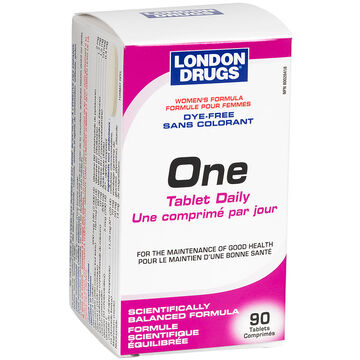 London Drugs One Tablet Daily - Dye Free - Women's Formula - 90's