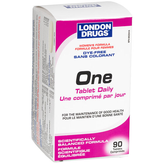London Drugs One Tablet Daily - Dye Free - Women's Formula - 90's