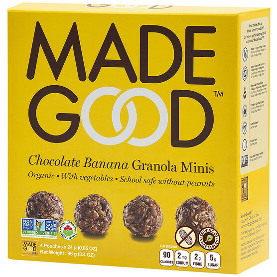 Made Good Granola Minis - Chocolate Banana - 4 x 24g