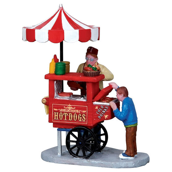 Lemax Hot Dog Cart Figurine