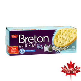 Breton Black Bean Gluten Free Crackers - Salt & Pepper - 120g