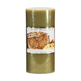Fragrant Reflections Pillar Candle - Banana Nut - 6inch