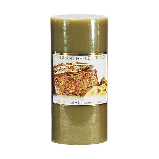 Fragrant Reflections Pillar Candle - Banana Nut - 6inch