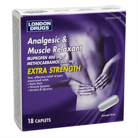 London Drugs Analgesic and Muscle Relaxant - Extra Strength Caplets - 18's
