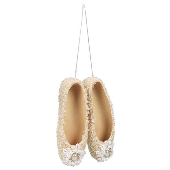 Pastel Beaded Ballet Slipper Ornament - CG2293-11AS1