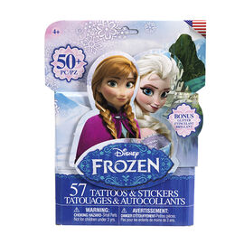 Disney Frozen Tattoo & Sticker Pack - 50's