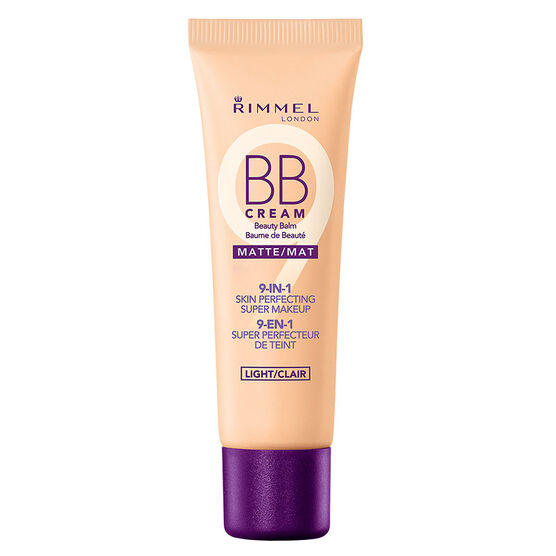 Rimmel BB Cream Matte 9-in-1 Skin Perfecting Super Makeup - Light