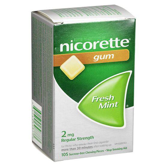 Nicorette Gum - Fresh Mint - 2mg - 105's