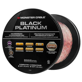 Monster Black Platinum Speaker Cable - 50ft - MCBPLXPCIBIG50WW