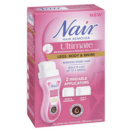 Nair Ultimate Microwave Roll-On Wax Hair Remover - Legs, Body & Bikini - 100g