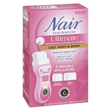 Nair Ultimate Microwave Roll-On Wax Hair Remover - Legs, Body & Bikini - 100g