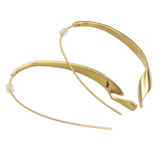 Kenneth Cole Oval Twist Earrings - Gold Tone