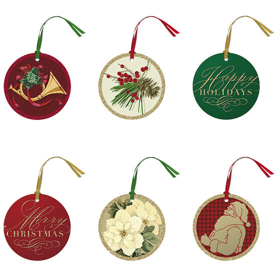 Hallmark Classic Icons Gift Tags - Elegant Reds - 0299XT 1073