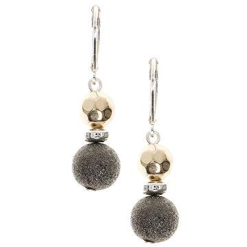Nine West Double Drop Earrings - Tri-Tone