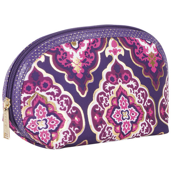Modella Purple Moroccan Round Top Clutch