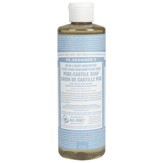 Dr. Bronner's Liquid Pure-Castile Soap - Baby - 473ml