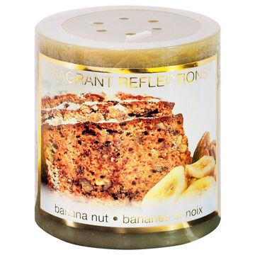 Fragrant Reflection Pillar Candle - Banana Nut - 3 inch