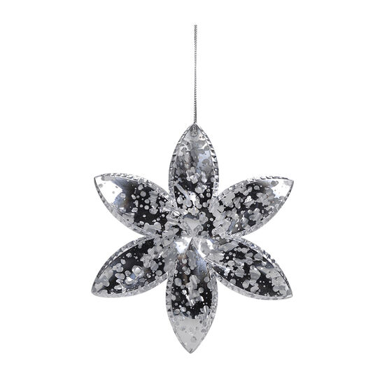 Winter Wishes Acrylic Snowflake Ornament - 5in - XLD6002429FOB